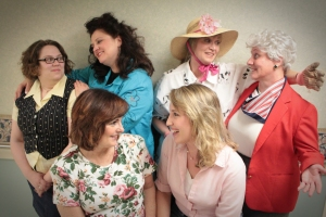 Wayward Actors Company Katie Hay as Annelle, Jennifer Star as Truvy, Janice Walter as Ouiser, Janet Morris as Clairee, Kathy Todd Chaney as M'Lynn and Ashley Raymer-Brown as Shelby